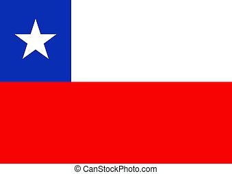 Chile Flag - Illustrated flag of Chile