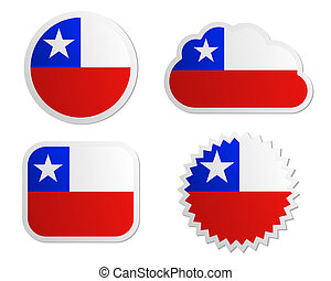 Chile flag labels
