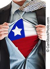 Chile flag on shirt