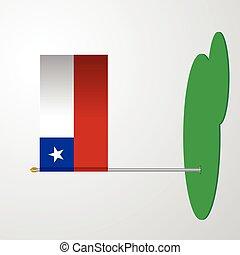 Chile Flag Pole