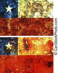 chile flag - some very old grunge flag of chile