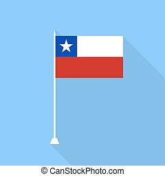 Chile Flag. Vector illustration .