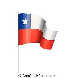 Chile flag, vector illustration