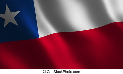 Chile flag waving 3d. Abstract background. Loop animation. Motion graphics