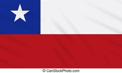 Chile flag waving cloth, ideal for background loop