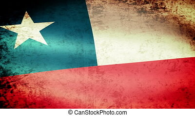 Chile Flag Waving, grunge look