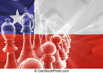 Chile flag wavy business strategy - Flag of Chile, national...
