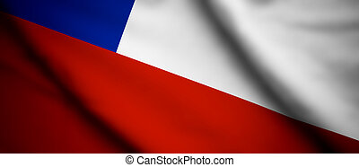 Chile - High detailed waving flag of different countries...