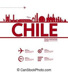 chile, illustration., bestimmungsort, vektor, großartig,...