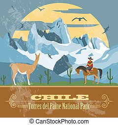 Chile infographics, statistical data, sights. Vector...