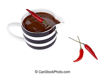 chile, jarabe, pimienta, chocolate