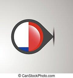 Chile Map Pin