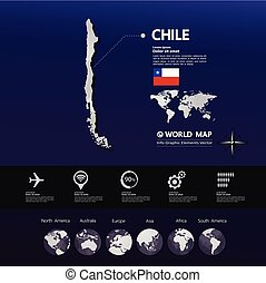 Chile Map vector