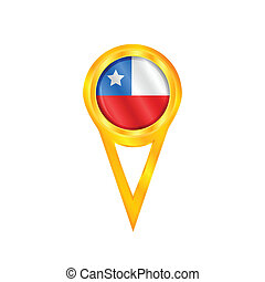 Chile medal flag - Gold medal with the national flag of...