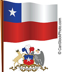 chile, ondulado, bandeira
