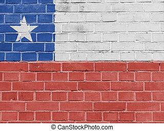 Chile Politics Concept: Chilean Flag Wall