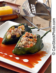 Chile Relleno de At?n. M?xico - A very traditional recipe in...