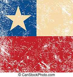 chile, retro, bandera