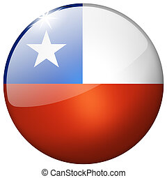 Chile Round Glass Button