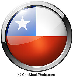 Chile Round Metal Glass Button