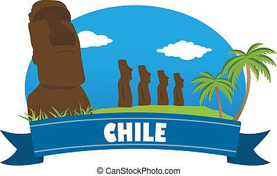chile., turismo, e, viaggiare