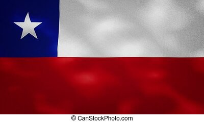 Chilean dense flag fabric wavers, background loop - Chile ...