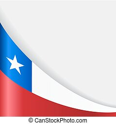 Chilean flag background. Vector illustration. - Chilean flag...