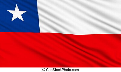 Chilean flag, with real structure of a fabric