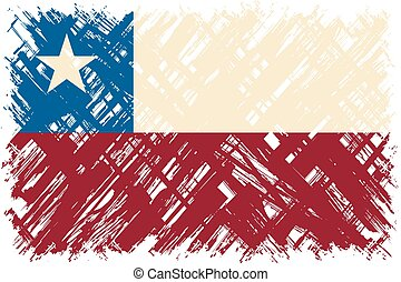 Chilean grunge flag. Vector illustration. Grunge effect can...