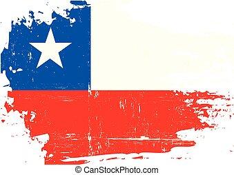chileno, arranhado, bandeira