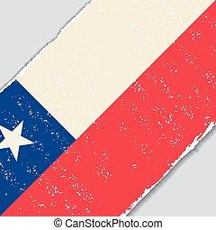 chileno, grunge, flag., vetorial, illustration.