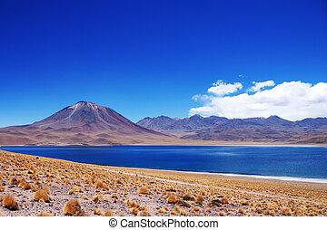 chileno, lago, volcán