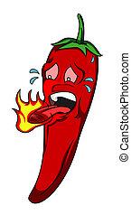 chili caldo, peperoni