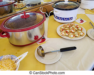 chili contest with crock pots