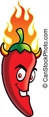 Chili Devil - A cartoon chili pepper with horns.