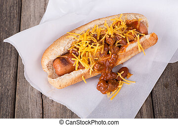 Chili Dog with Cheese