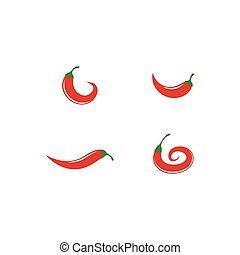 chili, logo, gorący