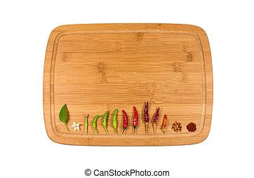Chili on cutting board