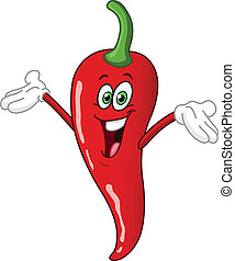 Red hot chili pepper cartoon