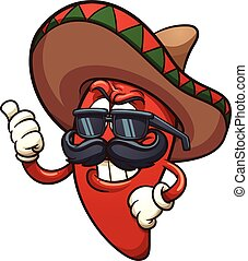 Chili Pepper - Cool Mexican chili pepper. Vector clip art...