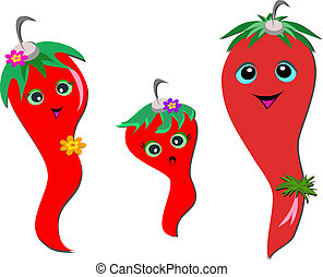 Chili Pepper Family - Here is a happy family of Chili...