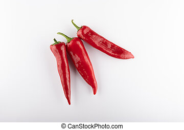 chili pepper isolated on a white background close up