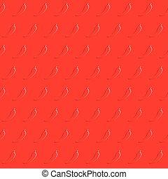 Chili pepper pattern