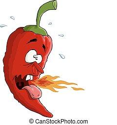 Chili pepper - Chili on a white background, vector...