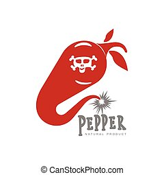 chili pepper vector logo illustrations