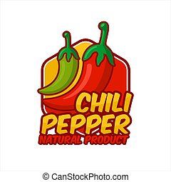 Chili Peppers natural product vector design