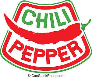 chili pfeffer, etikett