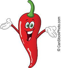 chili pfeffer, karikatur