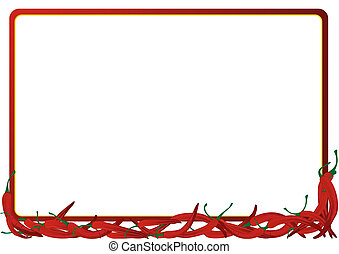 The frame of the red hot chili peppers