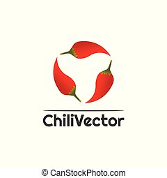 Chili vector logo design, hot, spicy food icon